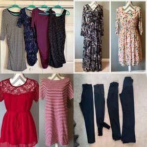 Dresses & Skirts - Maternity Dress and Legging Lot Small Medium
